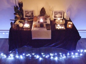 full moon winter altar 2012